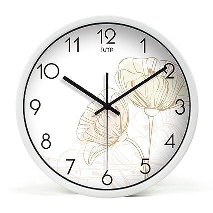 Super Silencioso Muro relojes marcando no barrido tranquila relojes decorativos para el Salón Dormitorio Comedor Office