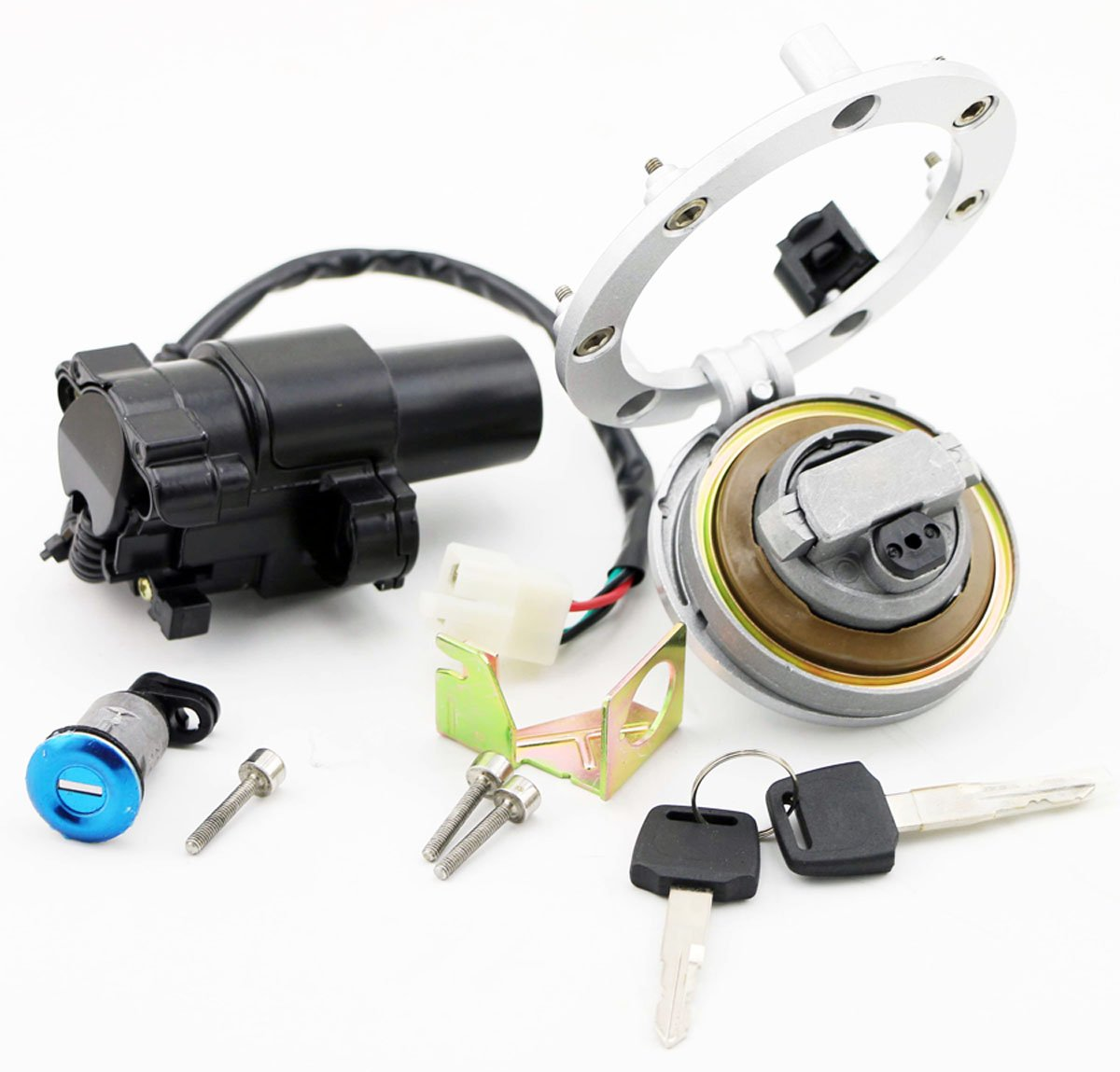 New Honda Cbr1000rr 2004 2007 Cbr600rr 2003 2006 Ignition Switch Wiring Lock Fuel Gas Cap Key Set Starter Amazon Canada