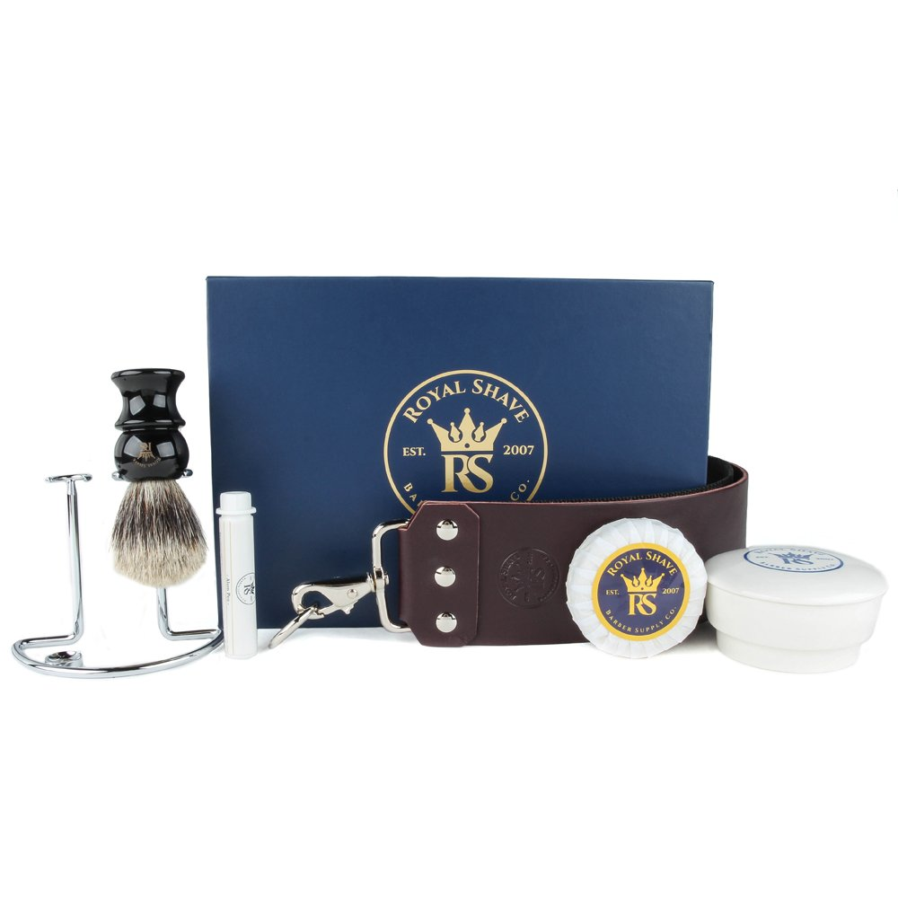 RoyalShave 4 Piece Add-On Straight Razor Set - Straight Razor Accessories Kit!