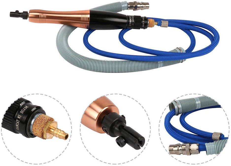 Ultrasonic Air Micro Grinder Kit Reciprocating Polishing Pneumatic Tool 12 File