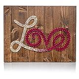DIY String Art - Love String Art Kit, Love Sign, Love Decor, Love Decor, Crafts, Arts and Crafts, Crafts Kit, Crafts for Adults, Adults Arts and Crafts, DIY Kit, All supplies included