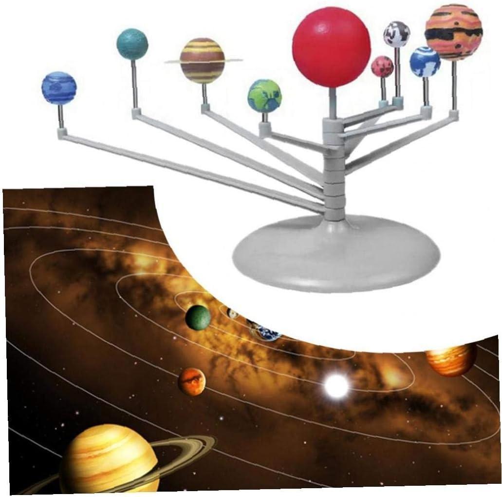 Nove Pianeti Modellini Montaggio Di Puzzle Sistema Solare Planetarium Girl Fai Da Te Toy Set Astronomiche Giocattoli Per Bambini