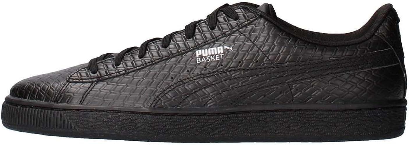Puma Basket Classic B+W Schuhe Leder Weiß Sneaker Fashion