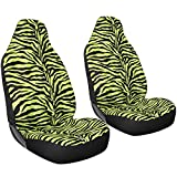 Oxgord 2pc Integrated Zebra Bucket Seat Covers, Universal Fit for...