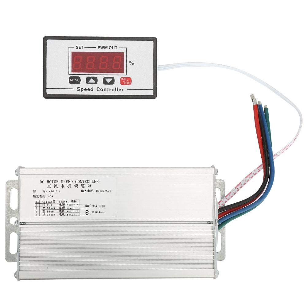 Motor Speed Regulator, Adjustable DC12-60V LED Digital Display DC PWM Motor Speed Regulator Power Controller