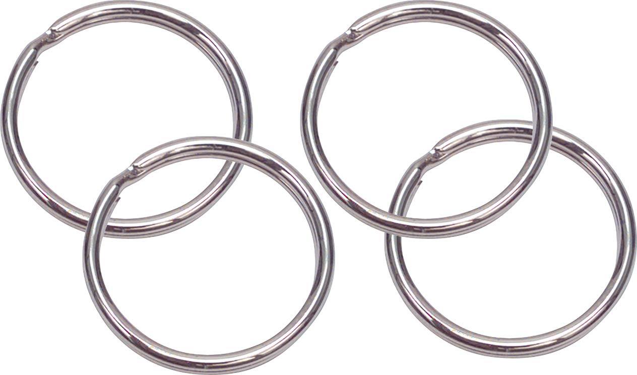 366193//5/BL 1 Secotec portachiavi anello 16/Acciaio Nichelato SB 5 5/pezzi