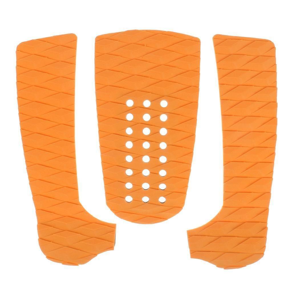 FidgetFidget Surfboard Orange Diamond Traction Pad Tail Pad Deck Grip Accessories 3 Piece