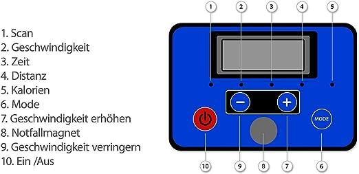 VORCOOL Laufband klappbar Elektromotorisierte Laufmaschine mit Cup Halter// 3 Ebene Steigung//LED Herz Display Monitor Walking//L/äufer /Übung Equipmen