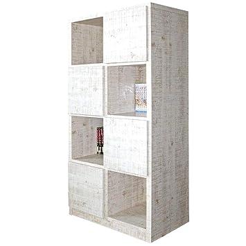 da5beccb7d Amazon|70-4 ラック ラッキー 1-12 (WH) 書棚 本棚 収納家具 多目的 ...