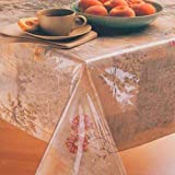 Carnation Home Fashions Oblong Vinyl Tablecloth Protector, 54-Inch by 72-Inch