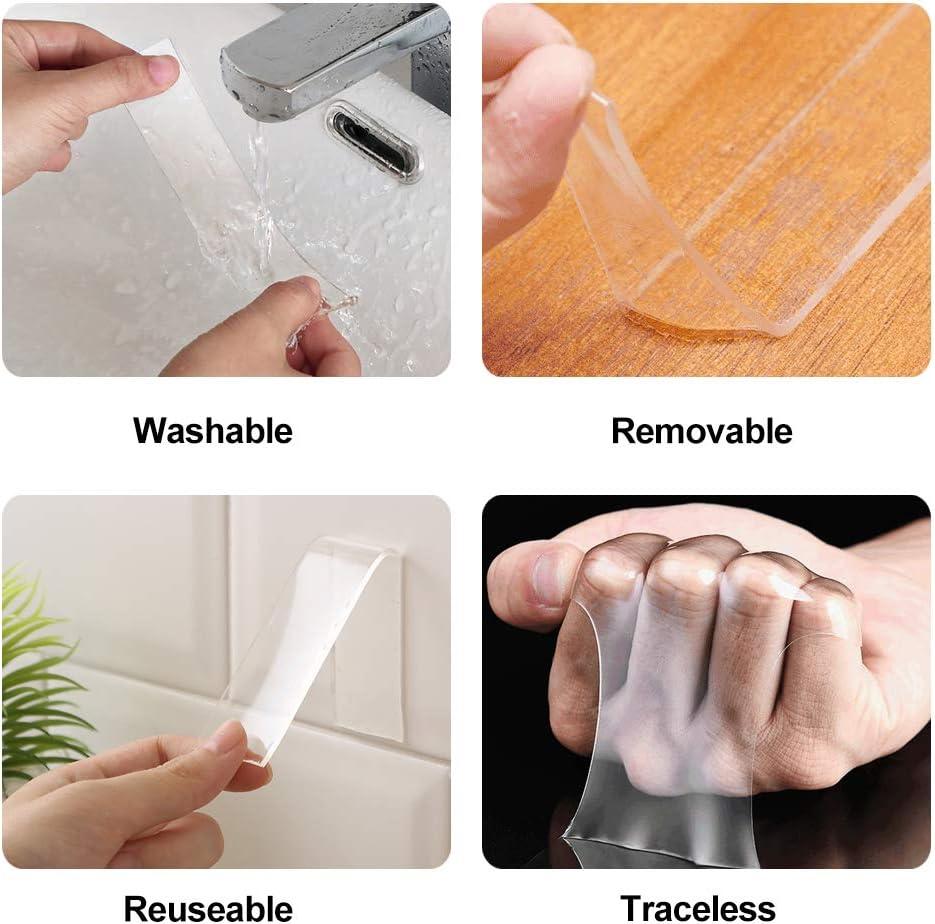 lavable de gel fuerte alfombra multiusos cocina para pared reutilizable transparente cinta adhesiva extra/íble Cinta adhesiva nano cinta adhesiva antideslizante de doble cara sin trazos