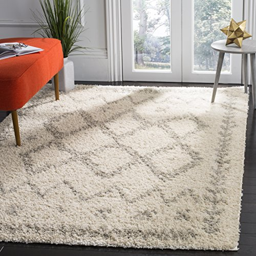 Safavieh Arizona Shag Collection Area Rug, 3 x 5 , Ivory Grey