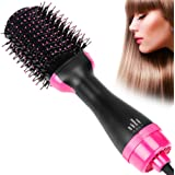 KALDOREI One Step Hair Dryer and Volumizer, 3-in-1 Salon Hot Air Paddle Styler Negative Ion Straightener Curly Brush for All Hair Type with Anti-Scald Feature
