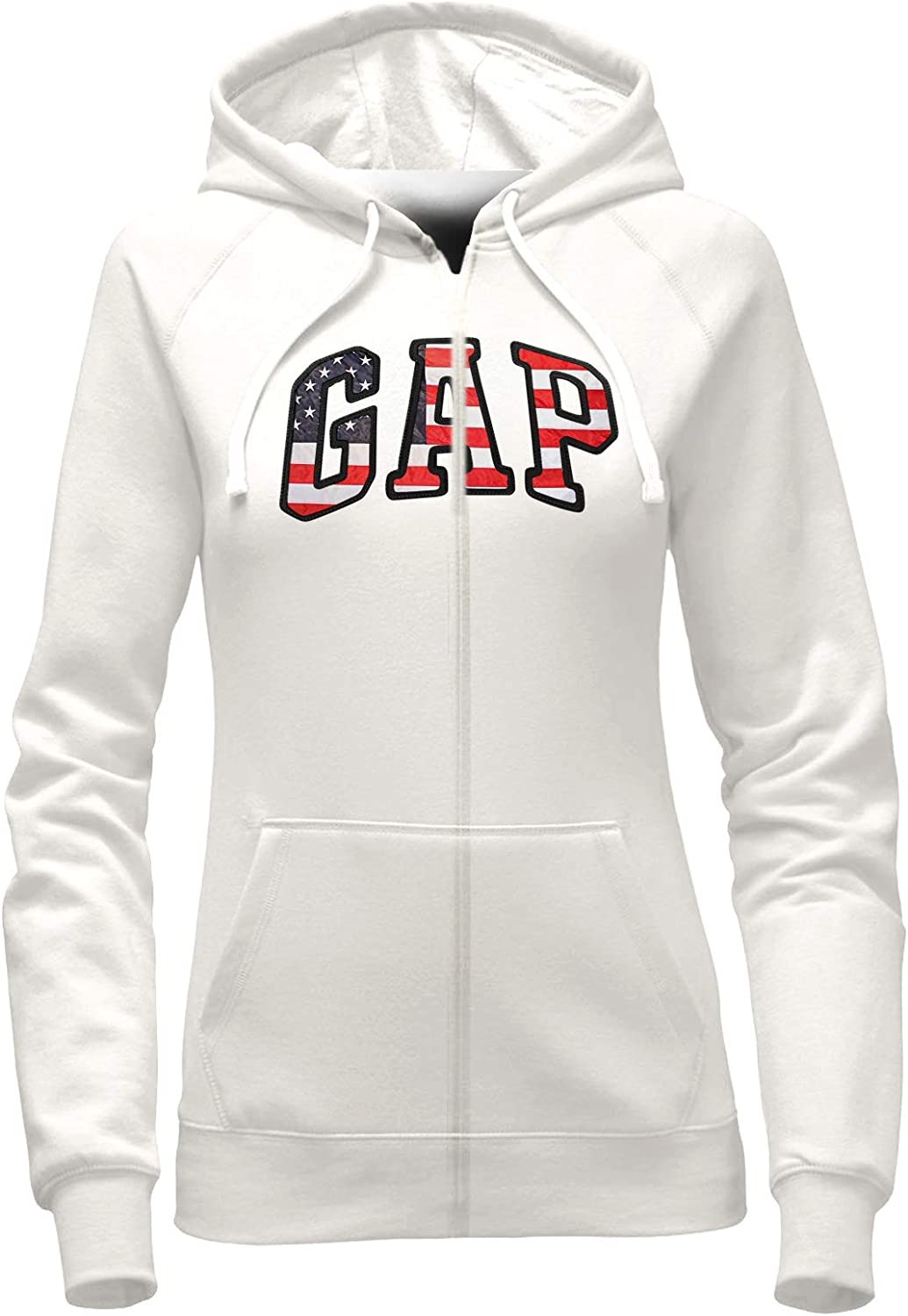 GAP Womens Full Zip Fleece Logo Hoodie