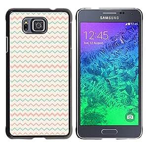 "Pulsar Snap-on Series Teléfono Carcasa Funda Case Caso para Samsung Galaxy Alpha G850 , Teal Pink Beige Patrón minimalista"""