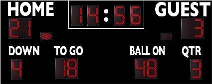 Amazon Com Varsity Scoreboards Permanent 20 X 8 X 8 Football