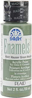 product image for FolkArt Enamel Glass & Ceramic Paint in Assorted Colors (2 oz), 4041, Hauser Green Medium