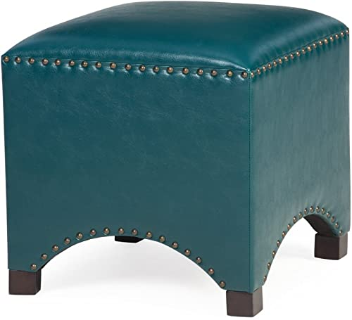 Belham Living Hutton Arched Cube Nailhead Ottoman