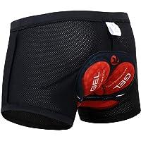 X-TIGER Hombres Ropa Interior de Bicicleta con 5D Gel Acolchado MTB Ciclismo Pantalones Cortos