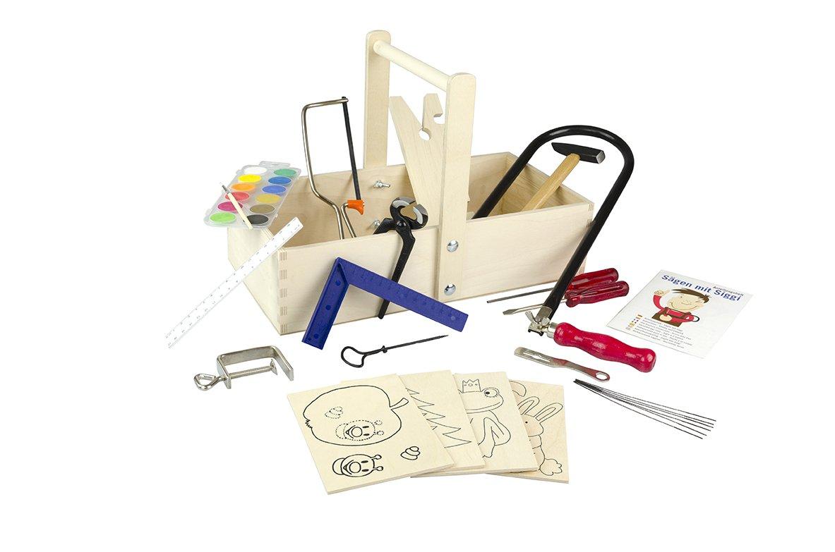 Echtes Werkzeug für Kinder - Echtes Kinderwerkzeug - Pebaro Laubsägeset für Kinder
