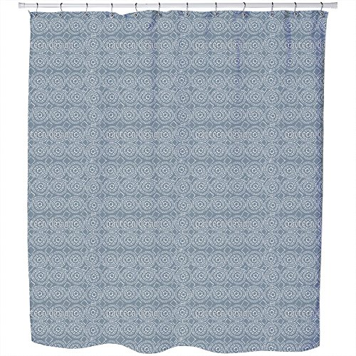 Uneekee Nature Dye Shower Curtain: Large Waterproof Luxurious Bathroom Design Woven Fabric by uneekee