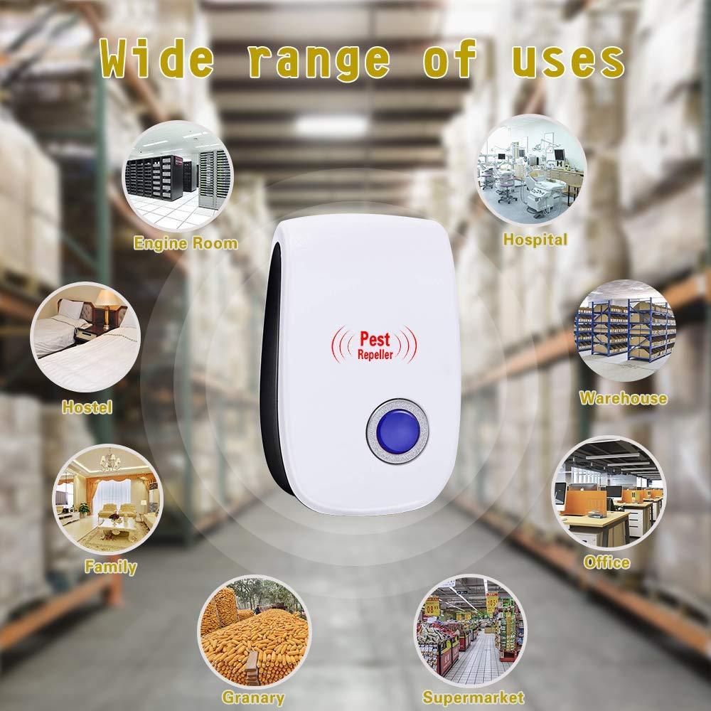 Ratones Moscas Hormigas Control de Plagas para Cucarachas Ara/ñas VEGKEY Repelente Ultras/ónico Mosquitos Ratas 4 Piezas Electr/ónico Repelente Mosquitos Ratones