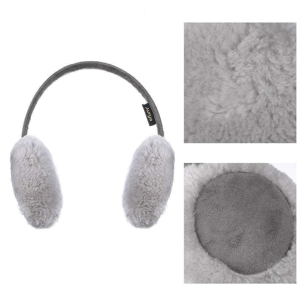 Kids Classic Ear Warmers//Earmuffs-Winter Faux Fur Warm Ear Muffs for Boys and Girls by Aurya
