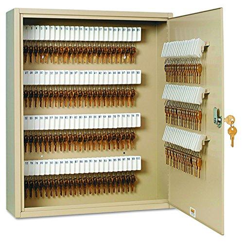 SteelMaster 201916003 Uni-Tag Key Cabinet, 160-Key, Steel, Sand, 16 1/2 x 4 7/8 x 20 1/8 by STEELMASTER