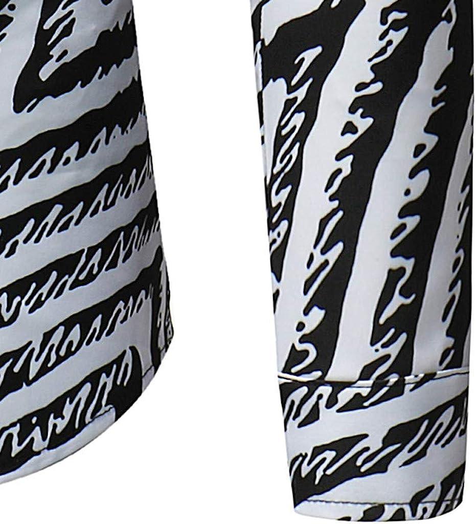 Outique Mens Dress Shirts Long Sleeve Regular Slim Fit Casual Fashion Shirt Autumn Stripe Loose Blouse Classic