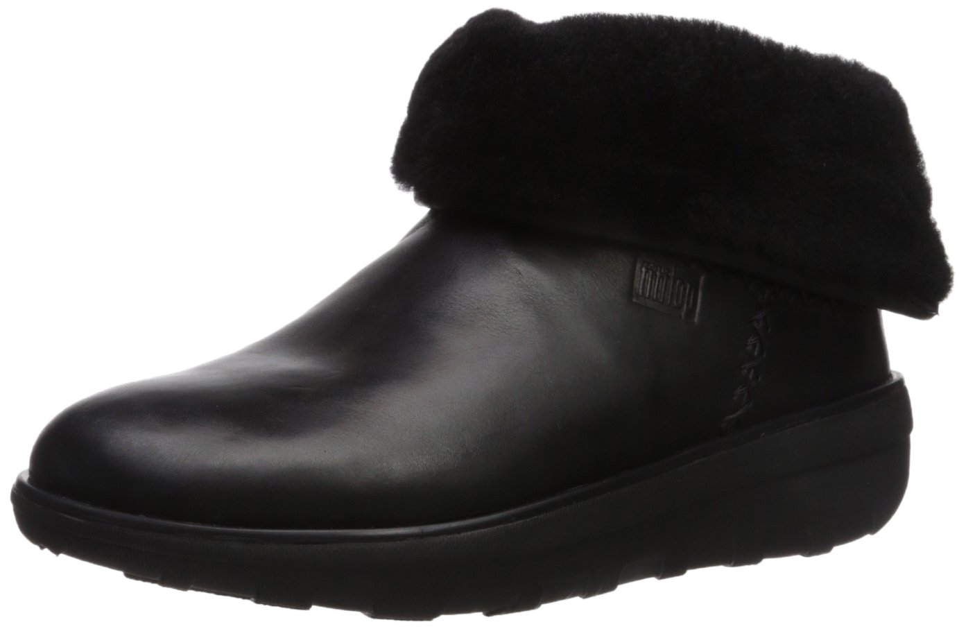 FitFlop Women's Mukluk Shorty II Boot, Black, 7 M US