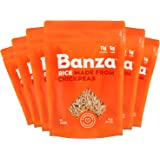 Banza Chickpea Rice, High Protein Low Carb Healthy Rice, Gluten-Free and Vegan, 8oz Bag (Pack of 6) (Standard)