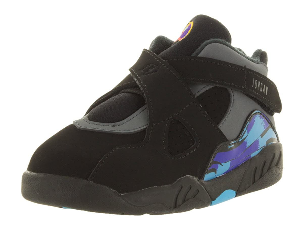 low priced fe3c0 6b22d Nike Jordan Toddlers Jordan 8 Retro Bt Black/Tr Rd/Flnt Gry/Brght Cncr  Basketball Shoe 9 Infants US