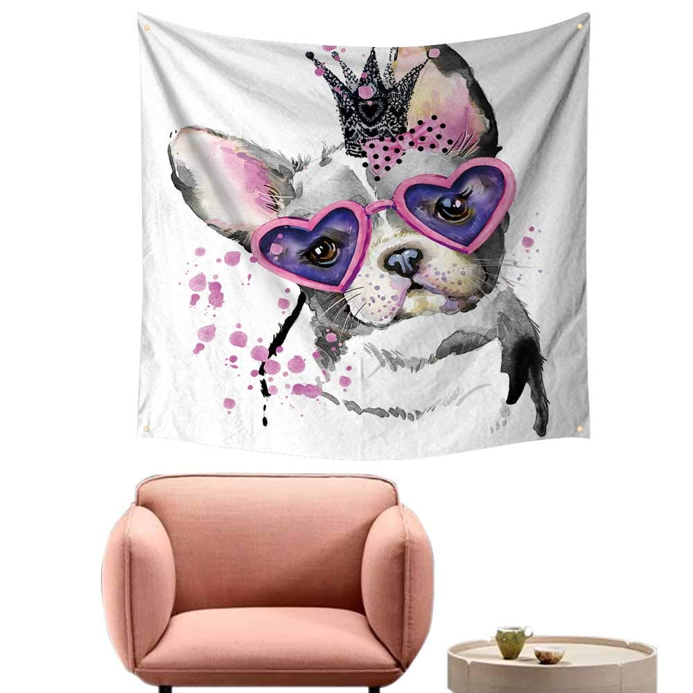 color07 55\ color07 55\ alsohome Bed Tapestry Beautiful Tapestry for Bedroom Dog Dog T Shirt Graphics Dog Backgroun Dog for 55 X55