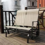 Patio Swing for Two – Porch Loveseat Sling Glider For Sale
