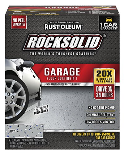 Rust-Oleum 60003 RockSolid 1 Car Garage Floor Coating Kit, Gray