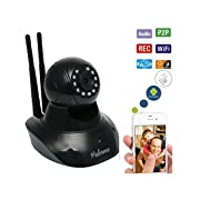 Baby Video Monitor - HD WiFi Camera with Audio and Video - Best Nanny & Pet Cam for Home Security Surveillance with Infrared Night Vision, Motion Detect and Remote Control