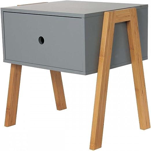 table de chevet empilable gris