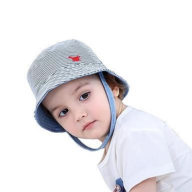 2181db0c192 Fancyland Bébé Enfant Chapeau de Soleil Plage Animaux Bob Anti-UV Solaire  Outdoor pur Coton