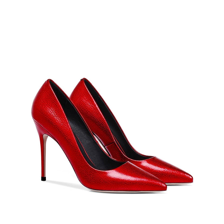 a35f0457 NPHM Zapatos De Tacón Alto Rojos De La Moda De La Mujer Zapatos De Corte De