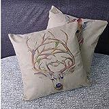 LAZAMYASA Home Decor Pillow Cover Modern Rustic Safari Animal Print Zebra Throw Pillowcase Cotton Cushion Cover 18