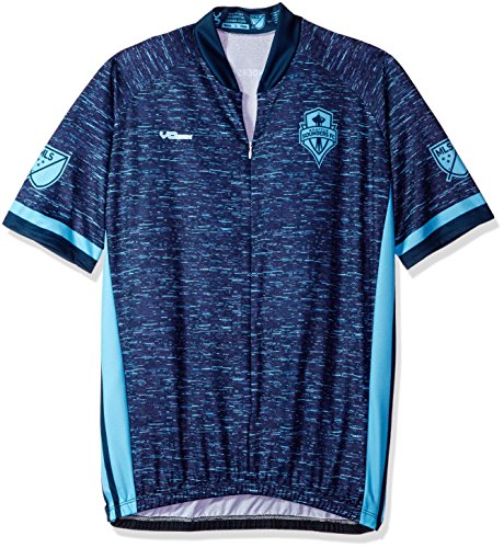 MLS Seattle Sounders FC Men's Third Short Sleeve Cycling Jersey, X-Large, Blue