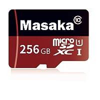 Masaka 256GB Micro SD Card High Speed Class 10 Micro SD SDXC Card with Adapter (256GB)