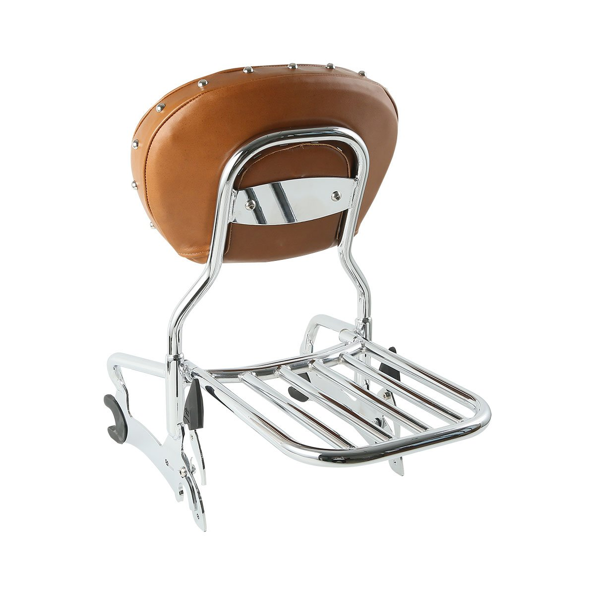 XMT-MOTO 12 Backrest Sissy Bar with Luggage Rack For Indian chief classic//vintage 2014 2015 2016 2017 2018,Indian chief dark horse 2016 2017 2018