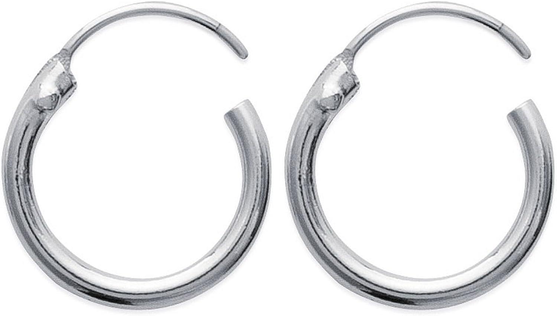 Boucles dOreilles Cr/éoles en argent 925//000 Diametre 18 mm Largeur 1,5 mm