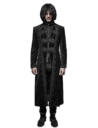 586c160033d Amazon.com  Punk Rave Men s Winter Black Gothic Palace Gorgeous Vintage  Style Long Coat  Clothing