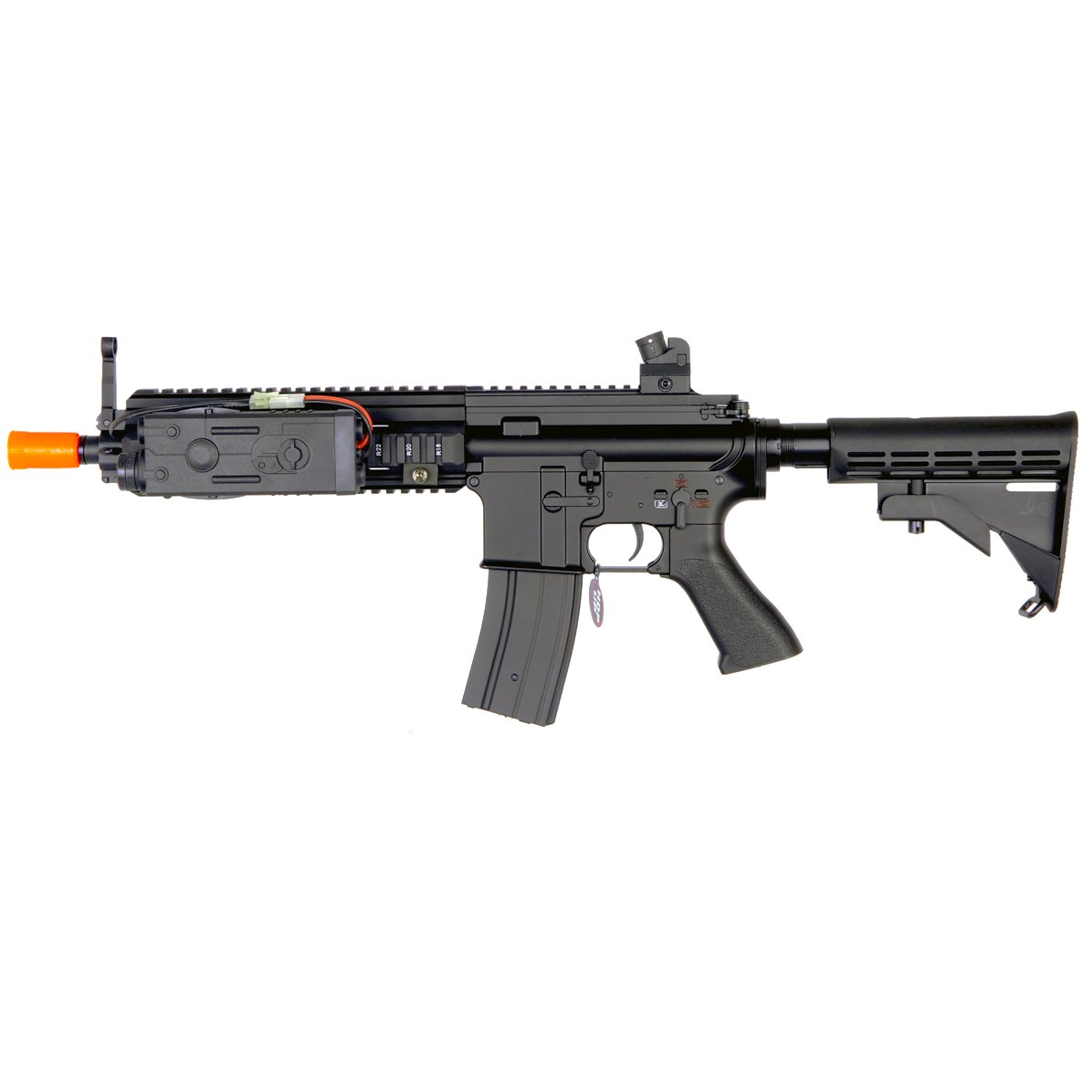 MetalTac JG F6622 614 Electric Airsoft Gun with Rail Mounting System, Full Metal Body, Battery PEQ Box, Metal Gearbox Version 2, Auto AEG, Upgraded Powerful Spring 410 Fps with .20g BBs