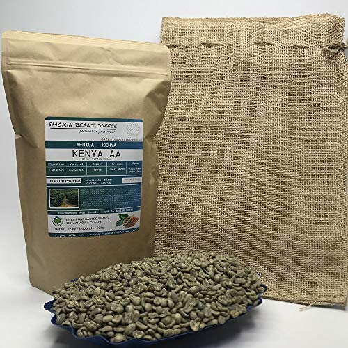 12.5 Pounds - Northern Africa - Uganda - Unroasted Arabica Green Coffee Beans - Grown Region Rwenzori - Altitude 1200-1500M - Bukonzo Organic Farmers - Drying/Milling Process Washed