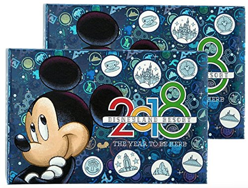 Disney Parks Bundle of 2 - Disneyland 2018 Year to Be Here Small Photo Album Holds 100
