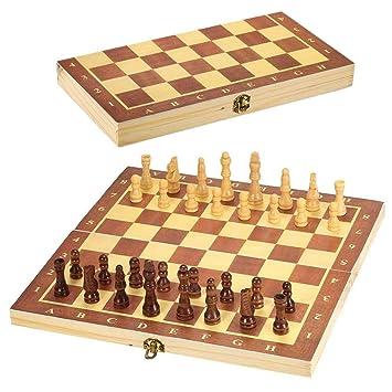 G-Tree Juego de ajedrez de Madera - Clásico Juego de Mesa Plegable ...