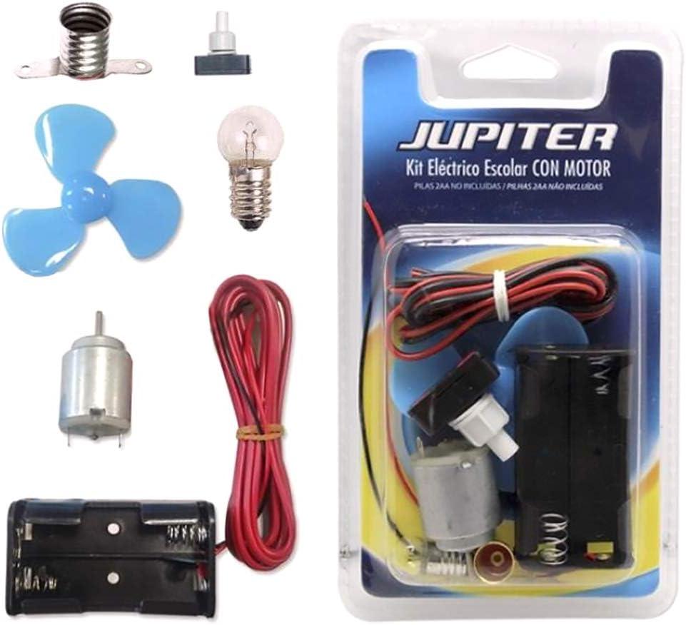 Jupiter Kit Eléctrico Escolar,Set Colegio Electricidad para Niños, Kit de Experimentación Eléctrica Básica para Trabajos Escolares (326295)